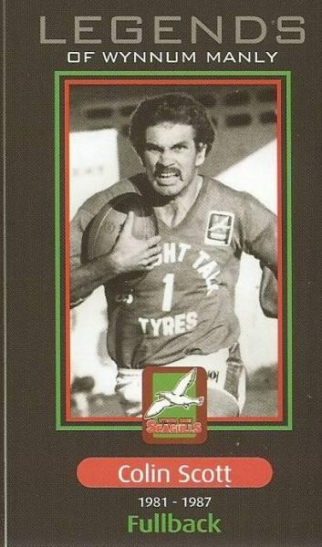 2010 Wynnum Manly Legends Rugby League Card – Scott   9811