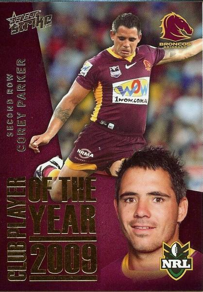 2011 Strike NRL Club Player of 2009 Card, no. CP 1, Parker ...