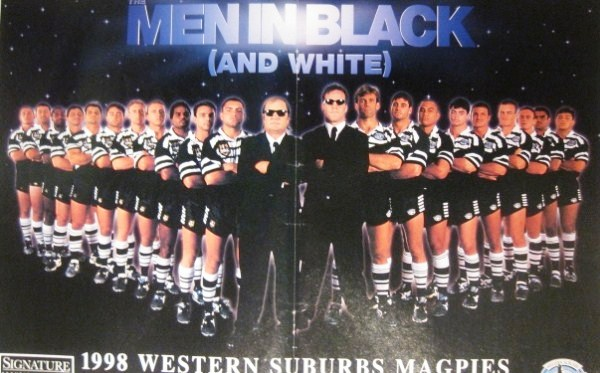 Wests Magpies Team – 1998 Wests Magpies Poster | 12592