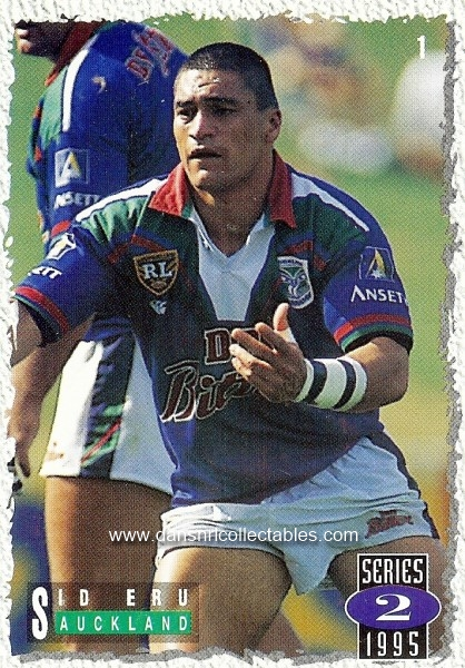 1201aaf9238 1995 Dynamic Series 2 Rugby League Card, no. 1, Eru, Auckland ...