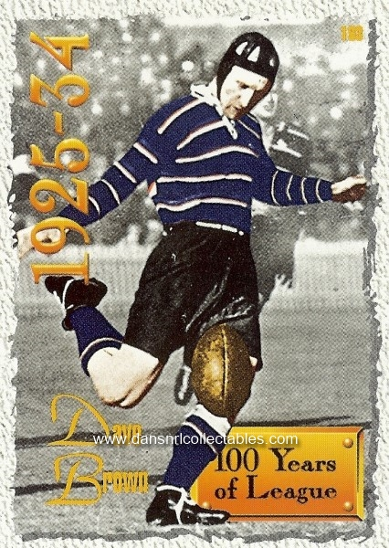 55f447c4750 1995 Series 2 Rugby League 100 Years of Rugby League Card, no. 193 ...