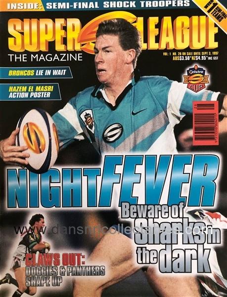 1997 Super League Magazine, no  28, Night Fever, Week 1 Semi Finals, Pin-Up  – El Masri, Bulldogs