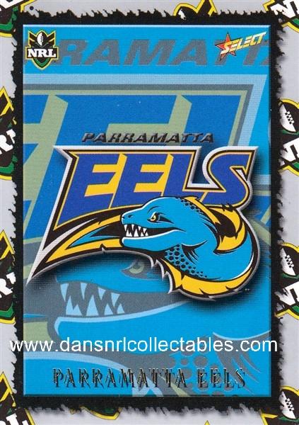 2000 Select Nrl Logo Card L 9 Parramatta Eels 32105