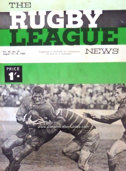 1964 Rugby League News Vol  45, no  27, Provan, St George