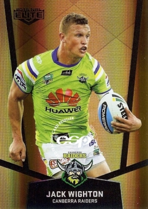 2015 NRL TRADERS SPECIAL PARRELLEL CARD PS27 JACK WIGHTON CANBERRA RAIDERS