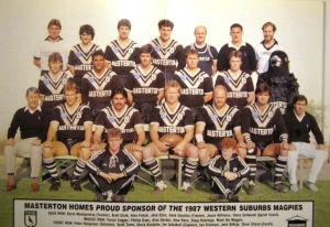 e164cc766c8 Wests Magpies Team – 1987 Wests Magpies Poster